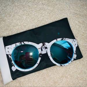 Quay Blue Flash Sunglasses